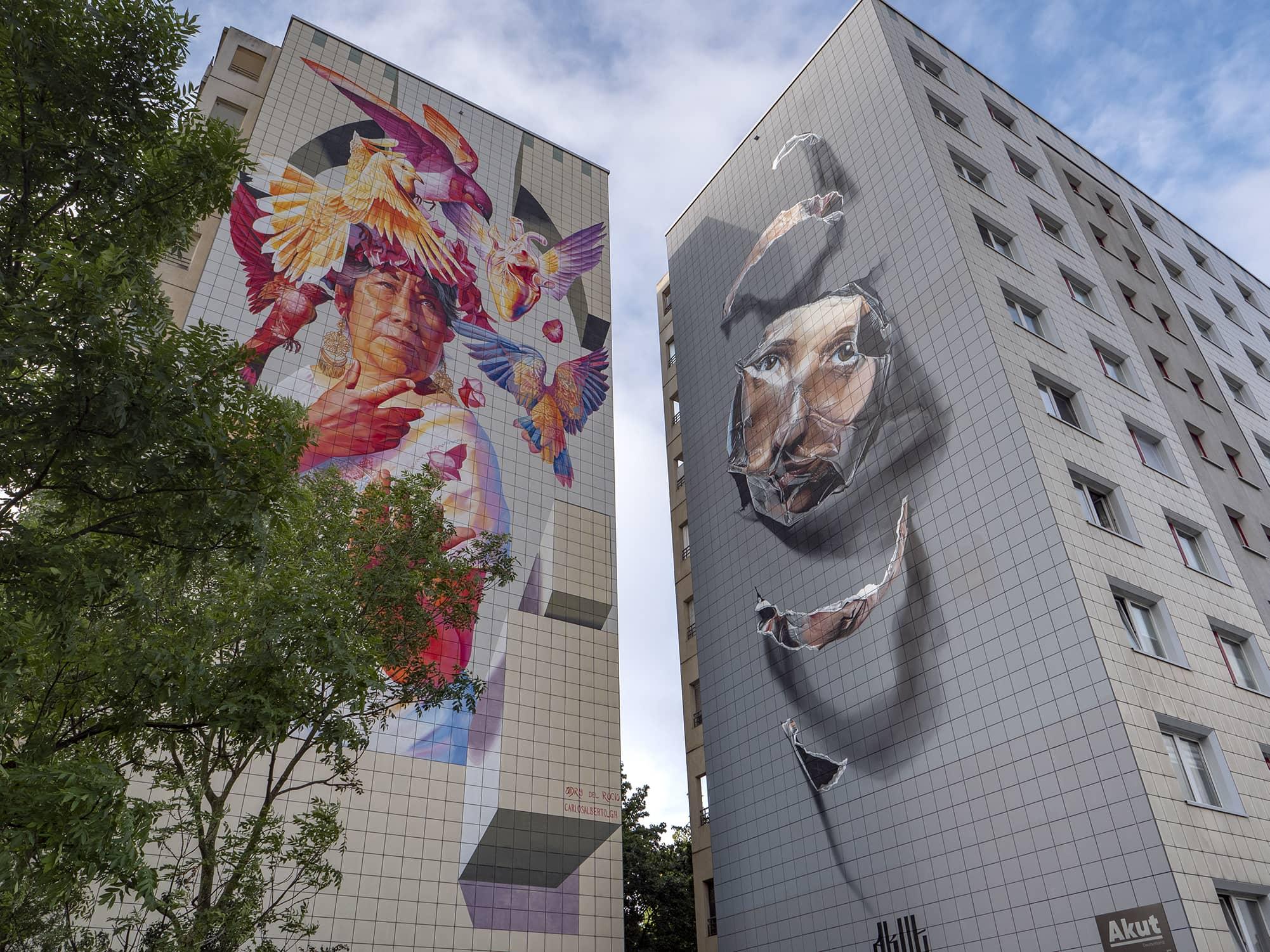 Berlin Streetart Adry del rocio Akut
